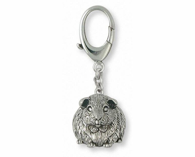 Guinea Pig Zipper Pull Jewelry Sterling Silver Handmade Piggie Zipper Pull GP1-Z