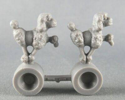 Figurine publicitaire la roche aux fées - le cirque - 2 caniches sur rouleau