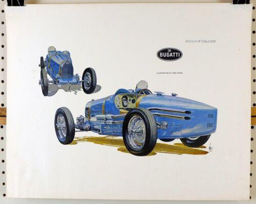 Bugatti  fine artwork by Toby Nippel ~ Road & Track issue