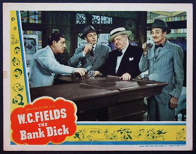 The Bank Dick W C  Fields Shemp Howard Best Scene 1940 Lobby Card