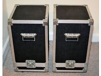 Pair of speaker flightcases