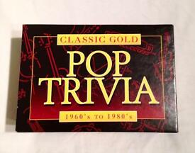 CLASSIC GOLD POP TRIVIA SIXTIES THROUGH TO EIGHTIES. COMPLETE AND GOOD CONDITION
