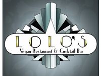 Commis Chef at Lolo's Vegan Restaurant & Bar