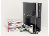 Sony Playstation 3 (PS3) 80gb version with Controller, Leads and 8 Games