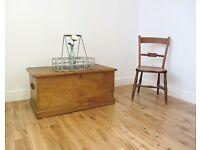 Vintage Pine Storage Chest / Blanket Box / Coffee Table