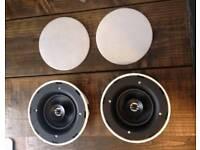 Pair of Linn Knekt Diskreet ceiling/in wall speakers