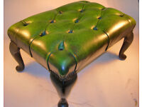 Collectable Chesterfield Style Footstool Queen Anne Style Legs VGC (WH_2994)