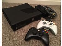 Xbox 360 Slim 250GB Black Console - Plus 5 Games - Call of Duty - Gears of War