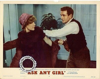 Shirley Maclaine  Rod Taylor Lobby Card Ask Any Girl  1959  Get Signed  Rom Com