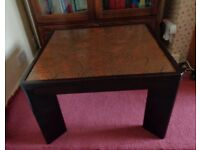 Retro COFFEE / SIDE TABLE with Copper inlaid top COLLECTION FROM BS3