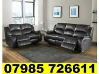 BRAND NEW HARVEY'S LEATHER RECLINER SOFA + DELIVERY