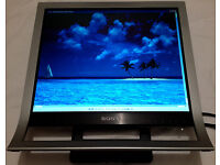 "Sony VAIO LCD Screen 17"" Monitor SDM HS75P VGA & DVI Very Stylish & Cool & WITH CABLES! £15! WORKS!"