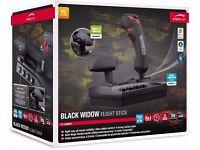 Speedlink Black Widow Flight Stick Flightstick / Joystick with Throttle Control USB NEW