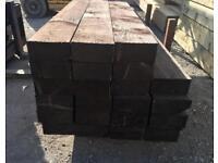 🍁Brown 90 X 190 X 2.4M Wooden Railway Sleepers