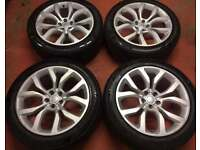21'' GENUINE RANGE ROVER SPORT LAND DISCOVERY ALLOY WHEELS ALLOYS TYRES AUTOBIOGRAPHY 5x120 VOGUE