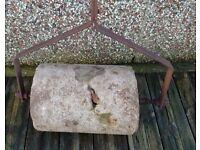 Concrete & steel lawn grass Roller