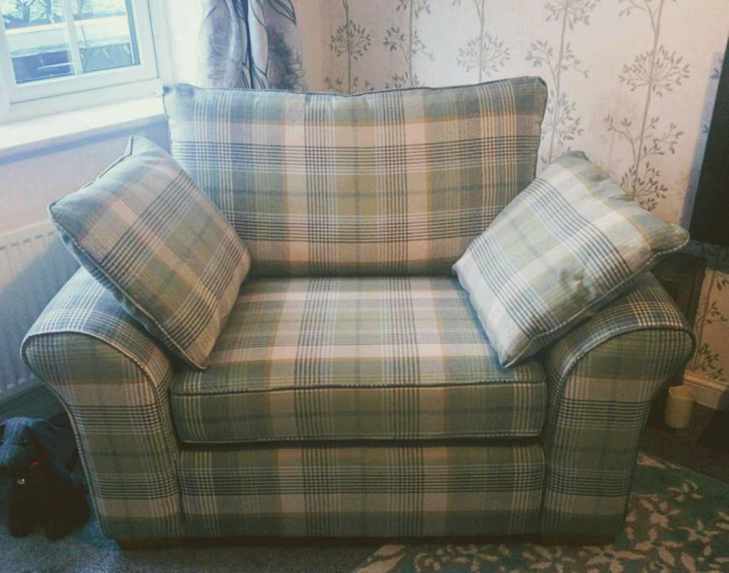 Next Green Tartan Snuggle Chair In Hamilton South