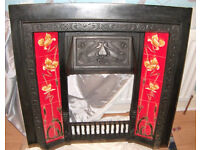 ART NOUVEAU CAST IRON FIREPLACE.REDUCED FROM £200 TO £175 TO £155, FINAL REDUCTION.