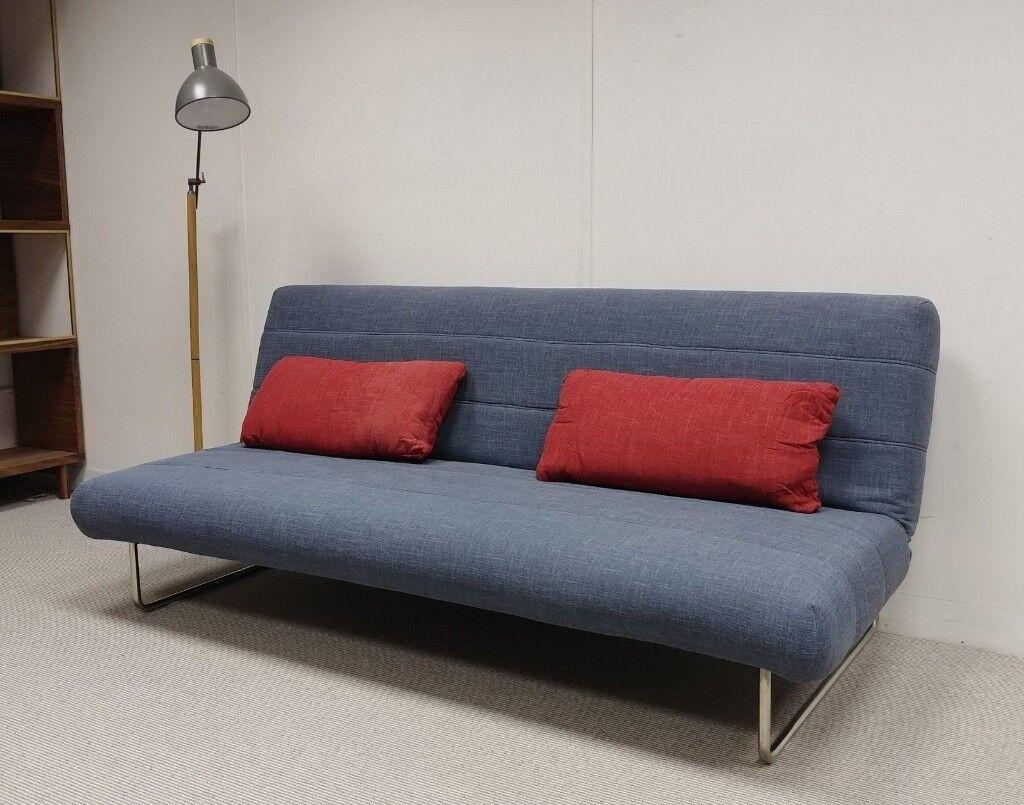 Arica M3 British Sofas Three Seater Sofa Bed In Blue Bury Manchester Gumtree