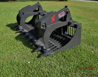 Mtl 80 X Series Rock Grapple Bucket Wteeth Skid Steer Bobcat -ship 179