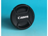 JOB LOT OF 55MM CENTRE PINCH LENS CAPS TO FIT CANON LENSES