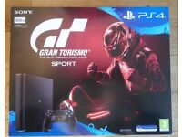 PS4 Jet Black 500GB HD (CUH-2116A) VR Ready, includes Gran Turismo Bluray Game