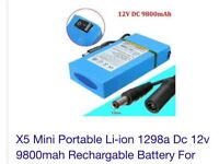 X-5 mini portable Li-ion 1298A Dc 12v