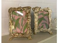Art Nouveau style Brass picture frames - similar but not pair
