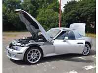 Bmw z3 3.0i convertible + hardtop + 70k fsh + amazing condition not 2.2i 2.8i but 3.0 - bargain
