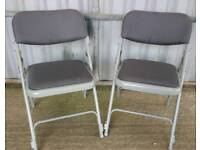Two Folding Modern Grey Office Chairs