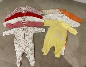 8 Baby Bodysuits. 100% cotton & velours