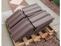 New Marley Brown Roof Tiles , 28 Tiles including Pallet (420mm x 330mm)