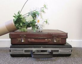 Vintage suitcase Antler paddington bear style suitcase props display boutique FREE DELIVERY WITHIN