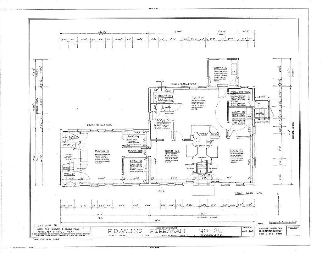 Cape cod colonial house plans one story plan w attic for One story colonial house plans