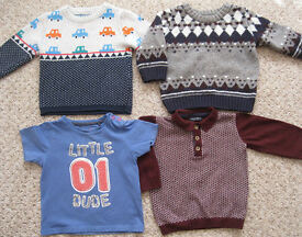 Boys clothes age 3m – 2 years, 25p - £2 per item.