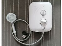 Mira Elite QT Pumped Electric Shower - 9.8kW White & Chrome - excellent condition