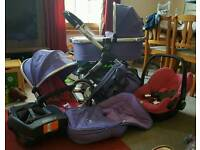Icandy peach 2 pushchair in parma violet with EXTRAS.