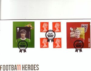 GB 2013 Football Heroes stamps MS booklet Greaves Moore Royal Mail & Stuart FDC