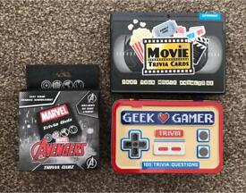 Trivia Game Question Cards Movie Marvel Avengers Geek Gamer