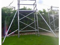 SCAFFOLD TOWER boss eiger LEWIS aluminium 6.3m - 8.3m COULD DELIVER