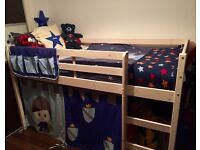 Kids Midsleeper Cabin Bed with Tent