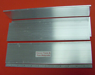 4 Pieces 316 X 3 Aluminum 6061 Flat Bar 12 Long Plate Mill Stock .187x 3.0