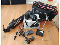 Complete CANON EOS 350D Digital SLR setup (boxed) including many extras