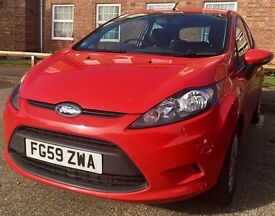 Red Ford Fiesta 59 Style Plus 1.4 Diesel - excellent condition
