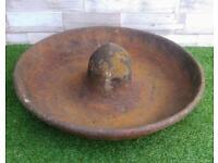 Vintage cast Iron pig feeder