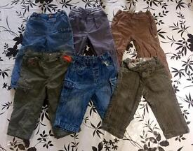 Baby boy bundle of trousers 12-18