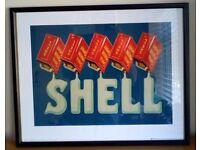 SHELL MOTOR OIL PRINT