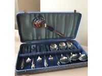 1950s 84 Chrome on Nickel Cutlery Set
