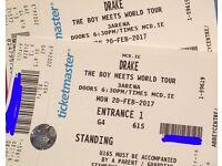 "2 Drake ""Boy meets world tour"" Standing Tickets 3 arena Dublin"
