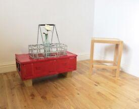 Vintage Metal Ammunition Box / Coffee Table / Storage Trunk